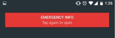 informacion de emergencia en teléfonos